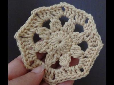 Flor de hilaza a crochet para principiantes a ganchillo