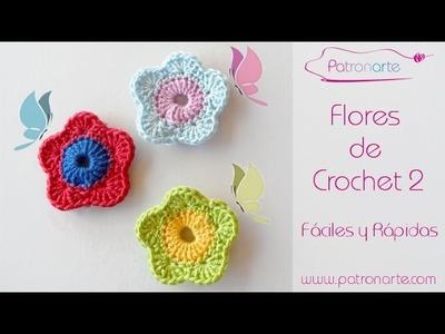 Flores de Crochet Fácil y Rápido
