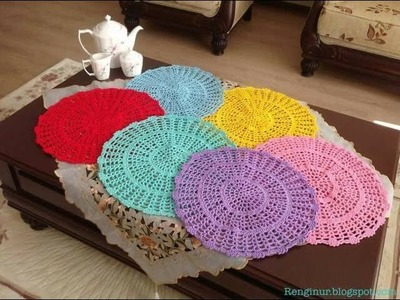 Individuales de Mesa Tejidos a Crochet