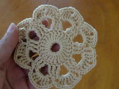 Paso a paso rosetón a crochet 3 flor a ganchillo para principiantes