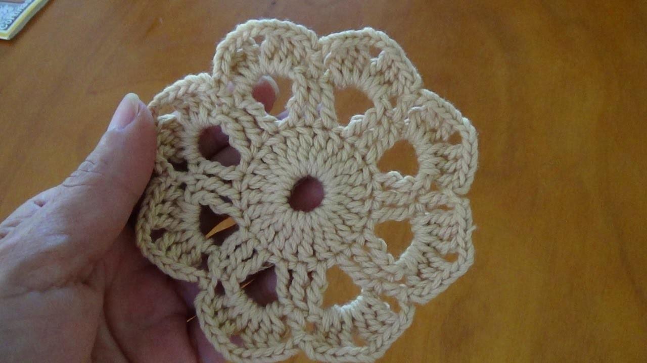 Paso a paso roset n a crochet 3 flor a ganchillo para - Labores de ganchillo para principiantes ...