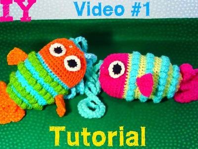 PEZ  -Bolsa tejida a Crochet - VIDEO #1