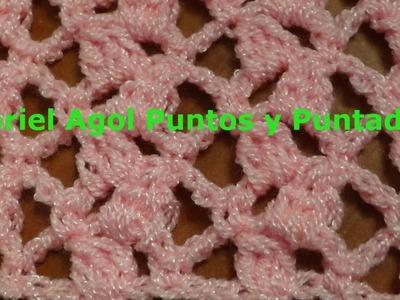 Puntada a crochet sencilla y linda. Muestra No. 128
