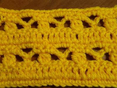 Puntada sencilla y fácil a crochet. Muestra No. 123