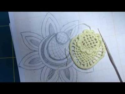 Video-tutorial Nº16.1 CROCHET IRLANDES Como tejer desde un dibujo. Flor a crochet desde el dibujo