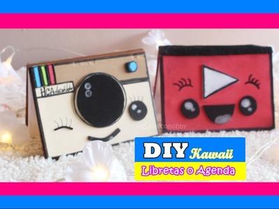 2 DIY Libretas o agenda KAWAII. how to make Address book.MANUALIDADES. youtube - instagram