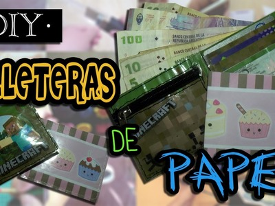 Billeteras.Carteras de Papel || DIY || Una Idea Más