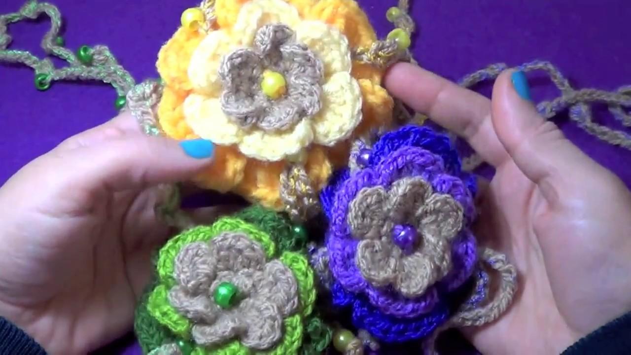 Collar Flor Boho!! - Tejido a Crochet !!