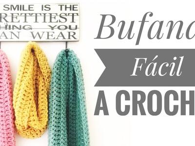 Como Hacer Bufanda Facil Tejida a Crochet (Tutorial #3)