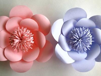 Como hacer flores de papel gigantes - DIY: Flor Gigante de Papel
