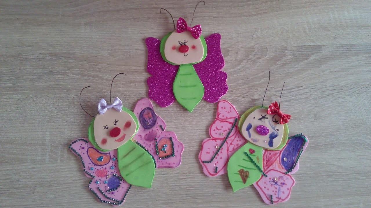 Como hacer mariposa de goma eva o foamy diy - Como hacer mariposas de goma eva ...