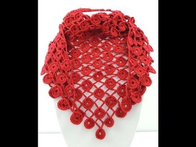 Crochet: Pañuelo en Círculos