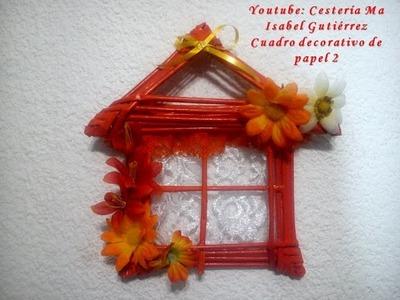 Cuadro decorativo  Ventana de papel. DIY