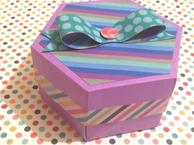 DIY: Caja hexágono. caja para regalo