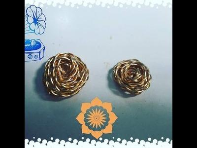 DIY: Como hacer una rosa de alambre super fácil!!!