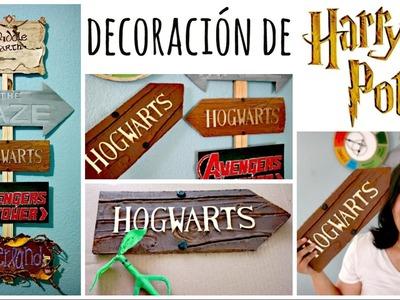 DIY! Letrero de Hogwarts ❤ Mi Letrero de Direcciones | Amellali Mayén