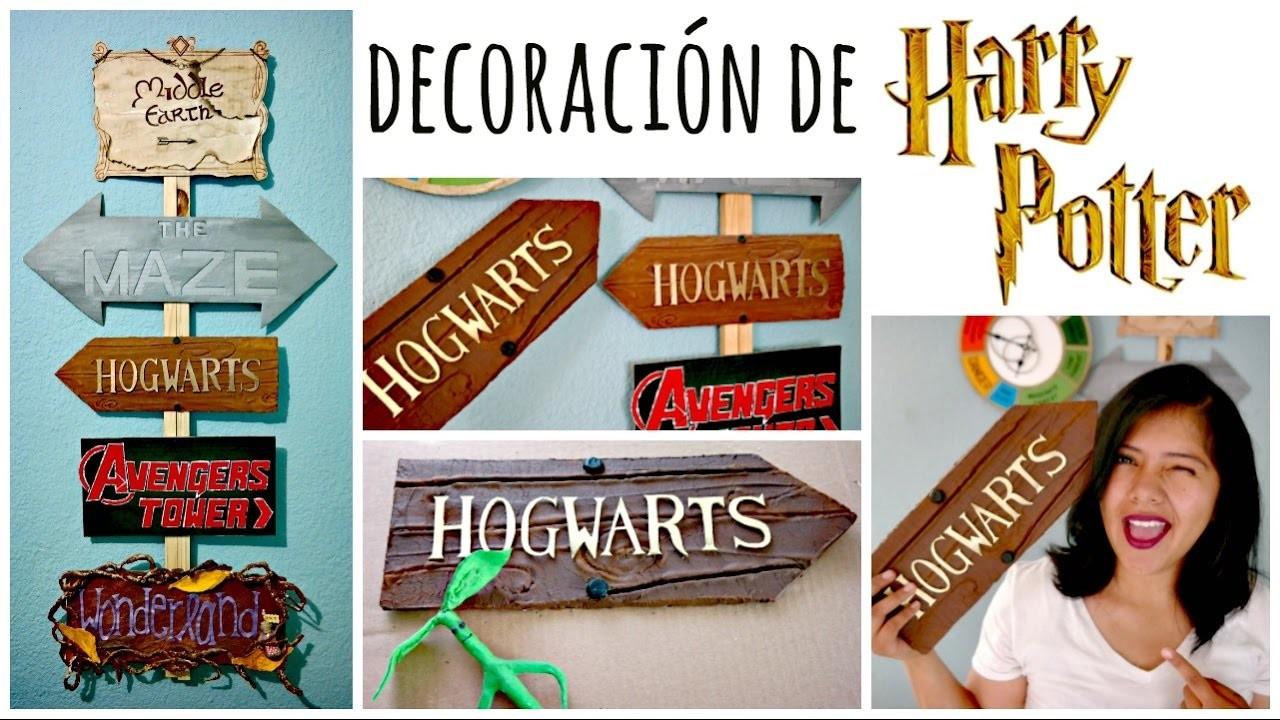 DIY! Letrero de Hogwarts ❤ Mi Letrero de Direcciones   Amellali Mayén