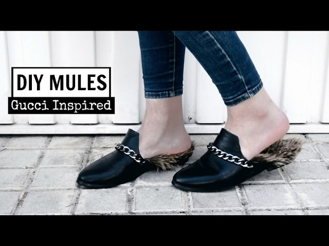 DIY Mules - Gucci Inspiration | Monica Beneyto