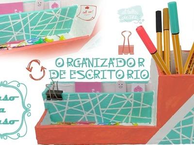 DIY - ORGANIZADOR DE CARTÓN para escritorio, FÁCIL Y ECONÓMICO - RECICLAJE