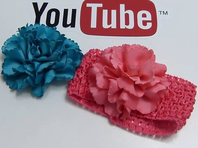 Diy Rosas Clavel o flores de listón para decoración de accesorios para el cabello. video 589