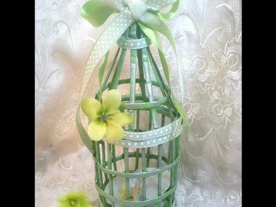 Jaula decorativa de papel. DIY. Cage made of paper, very easy
