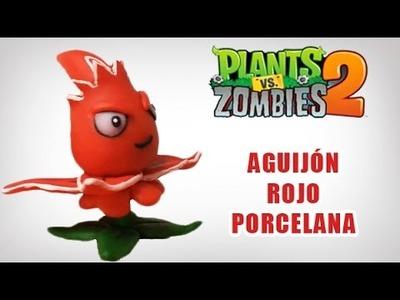 PLANTS VS ZOMBIES 2 AGUIJÓN ROJO EN ✓ PORCELANA ✓ PLASTILINA ✓ POLYMER CLAY