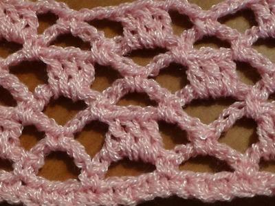 Puntada a crochet, muy fácil de realizar, se puede aplicar en diversos proyectos tejidos.