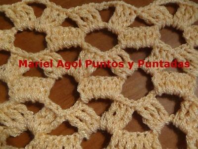 Puntada a crochet muy sencilla y fácil. Muestra No 125 Ideal para blusas, chalinas, mantas, etc.