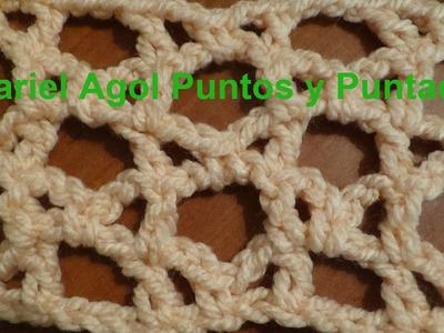 Puntada a crochet rápida, divertida y muy fácil. Muestra No.127