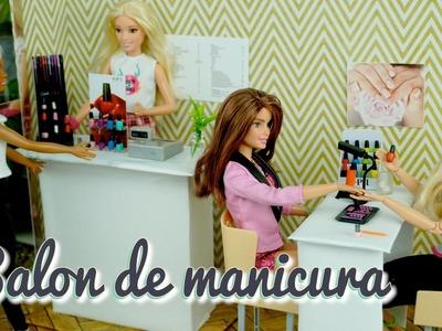 Salon de Manicure para Barbies DIY Esmaltes de Uñas miniaturas - Manualidades para Muñecas