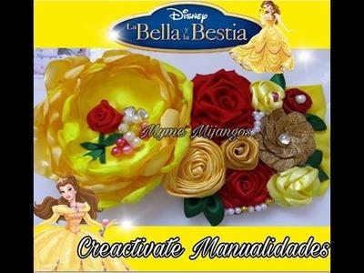 BANDITA DE LA BELLA Y LA BESTIA. Princesas Disney.Manualidades.tutoriales.TIaras