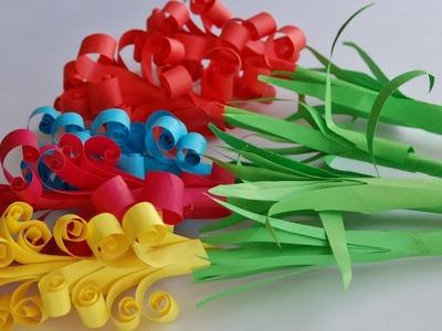 Como hacer flores de papel - Super facil | Manualidades de papel