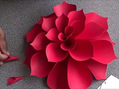 Como hacer flores de papel - FLORES DE PAPEL GIGANTES. MANUALIDADES DE PAPEL