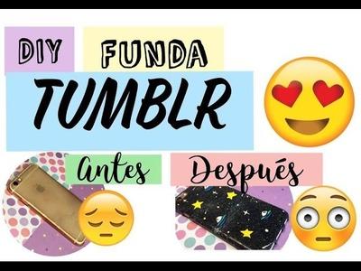 DIY FUNDA TUMBLR - UNIVERSO, OVNIS Y ESTRELLAS  - MANUALIDADES