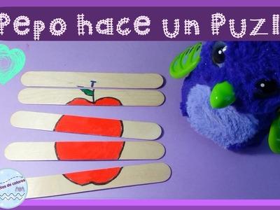 Hatchimals dragonmorado nos enseña a hacer un puzle || Vídeos de manualidades en español