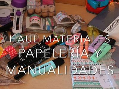 Haul papelería, manualidades y lettering | Orden, papel y tijera