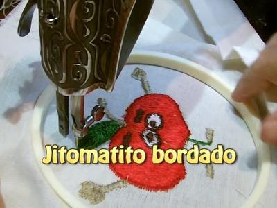 Jitomatito bordado |Creaciones y manualidades angeles