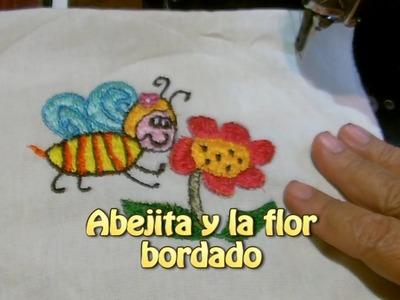 La abejita y la flor bordado |Creaciones y manualidades angeles