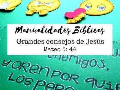 Manualidades Bíblicas para Semana Santa, Mateo 5:44, porta notas