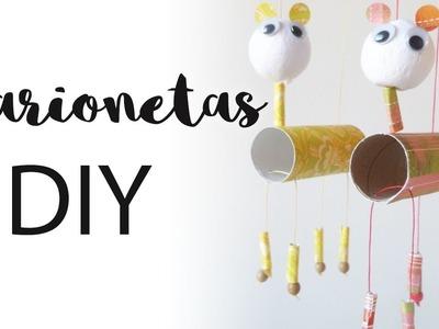Marionetas DIY | Manualidades con niños | Juguetes con material reciclado