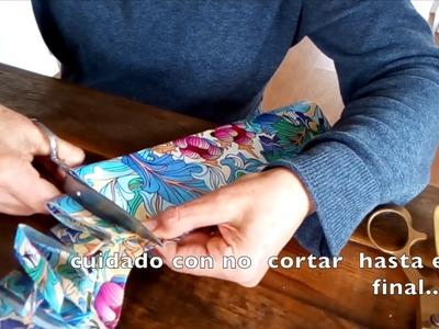 Parasol de Ganchillo: cómo hacer hilo de plástico reciclando una bolsa