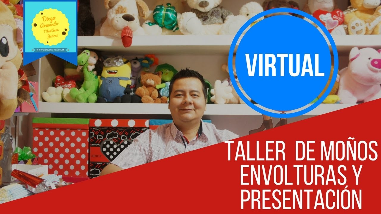 Taller Virtual de moños, envolturas y presentación. Taller de manualidades