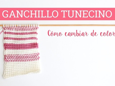 Cambiar de color en ganchillo tunecino: 2 maneras