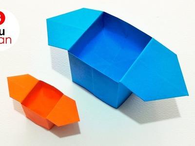 Como hacer Cajas de Papel RÁPIDO y FÁCIL - Origami | JuanTu3