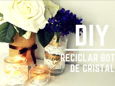 DIY: Botes cristal reciclados vintage!!