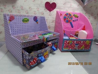 DIY-CAJAS ORGANIZADORAS DE CARTÓN. Cardboard organizer boxes