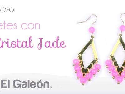 DIY El Galeón Aretes con Cristal Jade