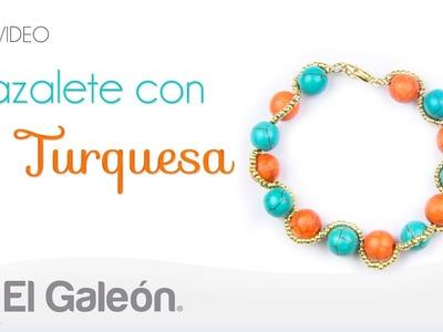 DIY El Galeón Brazalete con Turquesa