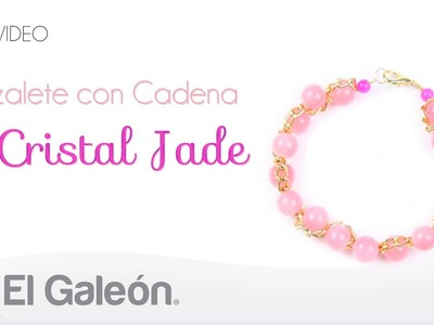 DIY El Galeón Brazalete con Cadena y Cristal Jade