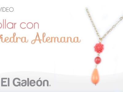 DIY El Galeón Collar con Piedra Alemana